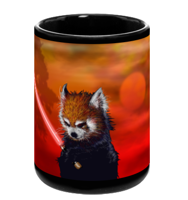 Red Panda, Black Shadow Mug