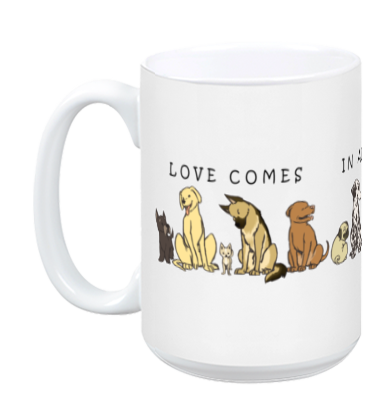 Dogs - Shapes and Sizes Mug