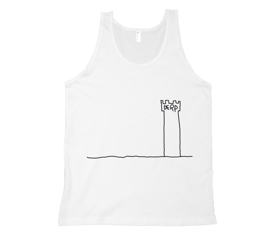 The Derp Tower Tank Top - Black