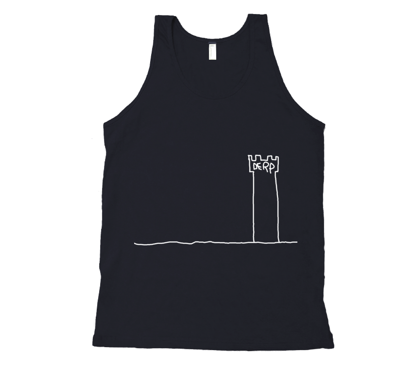 The Derp Tower Tank Top - White