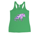 Purple Wolf Racerback Tank Top