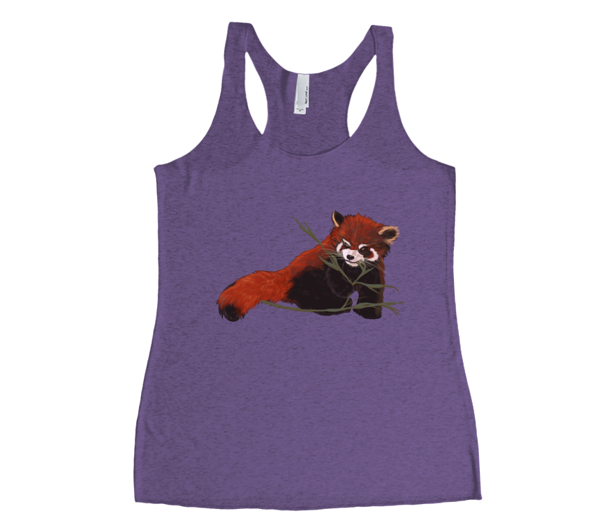 Red Panda Love Racerback Tank Top