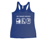 Dance Moves Racerback Tank Top - White