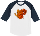 Orange Ram Baseball Tee
