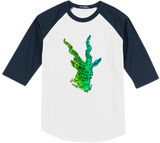 Green Blackbuck Baseball Tee