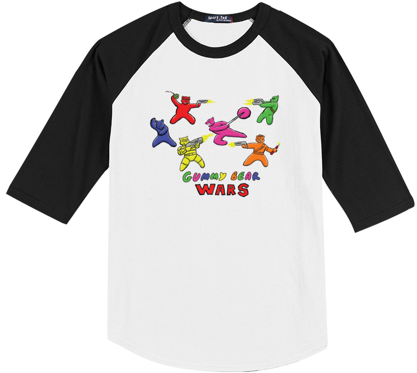 Gummy Bear Wars Baseball Tee