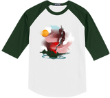 Forest Fire Baseball Tee