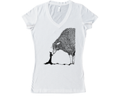 Sheep & The Witch Women's V-Neck - Black