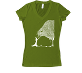 Sheep & The Witch Women's V-Neck - White