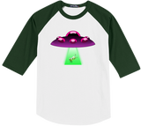 Cow Abduction Baseball Tee