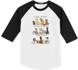 Dogs - Shapes and Sizes Baseball Tee