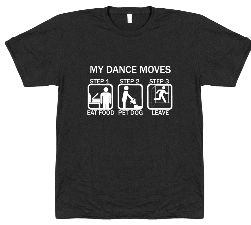 Dance Moves T-Shirt - White