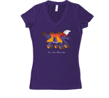 Flamatherium Women's V-Neck