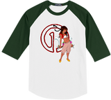Warrior Princess Minthamee Baseball Tee