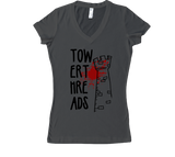 Tower Threads Women's V-Neck - Black