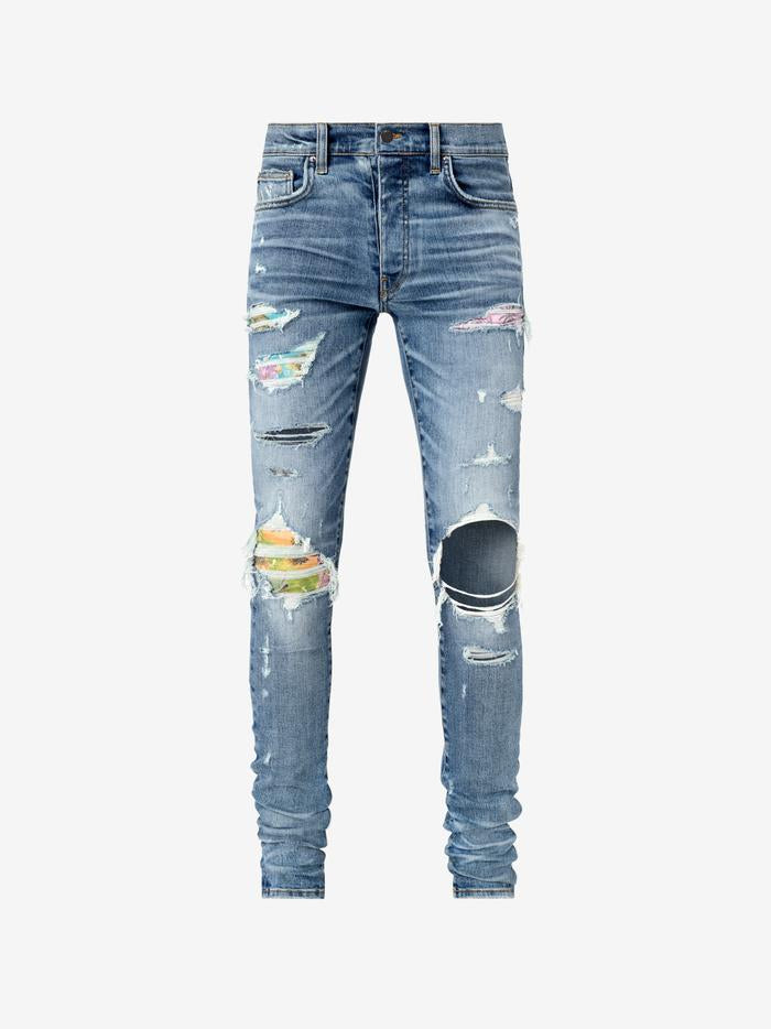 HAWAIIAN PATCH JEANS IN WASHED BLACK
