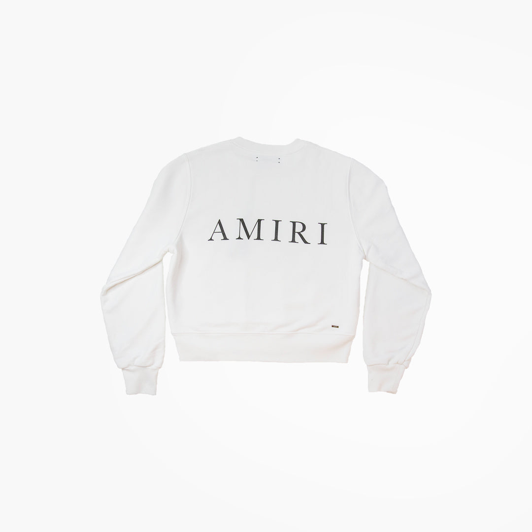 HOTEL AMIRI CREW SWEATSHIRT IN WHITE