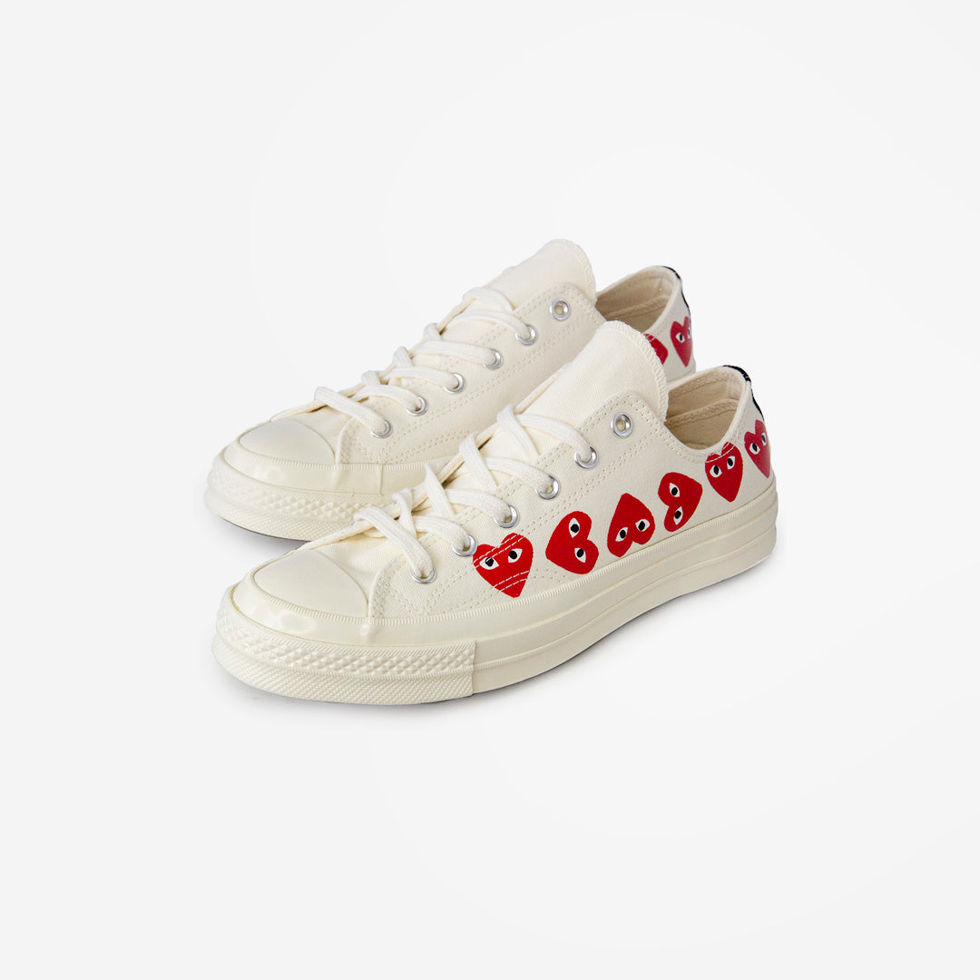 CDG X CONVERSE MULTI HEART LOW TOPS