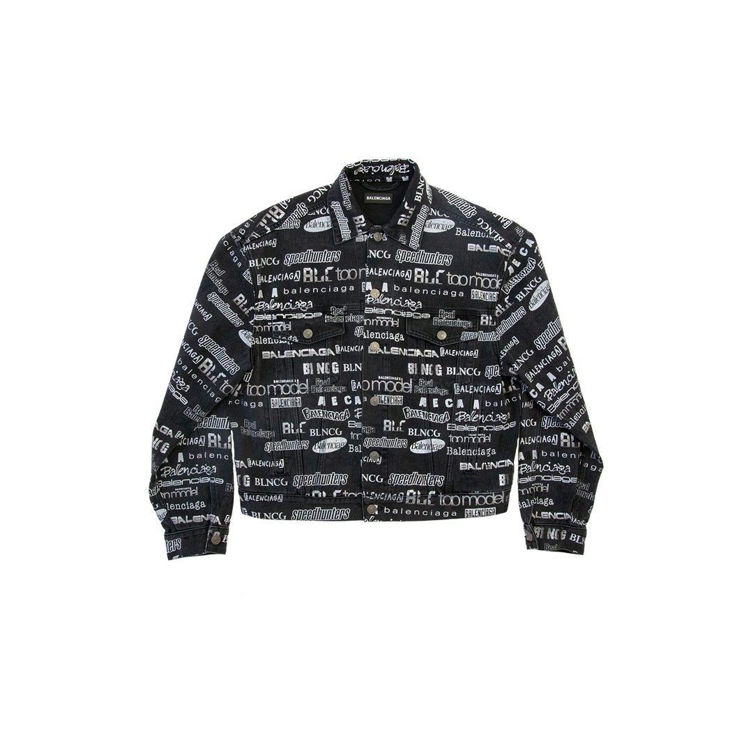 ALL OVER PRINT DENIM JACKET