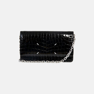 CROC STITCH SHOULDER BAG