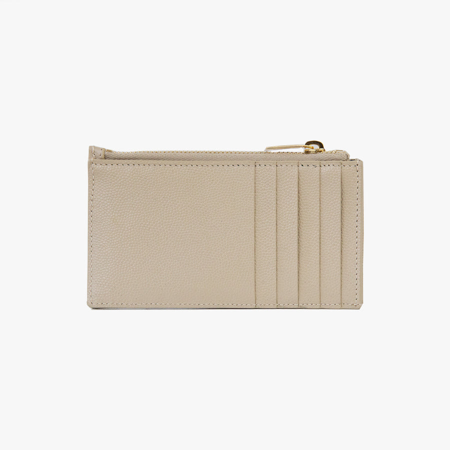ZIP WALLET IN TAN