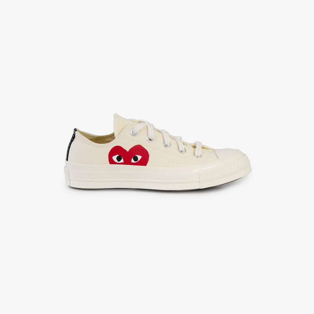 CDG X CONVERSE HALF HEART LOW TOPS