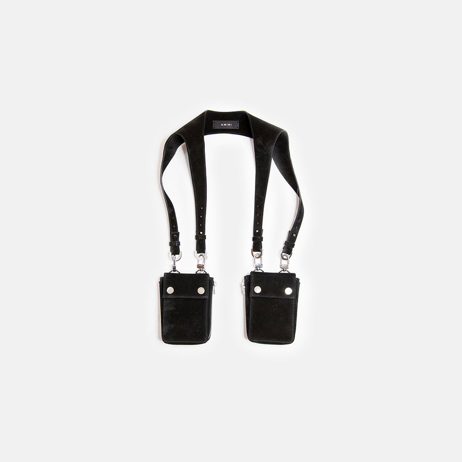 SUEDE HARNESS BAG