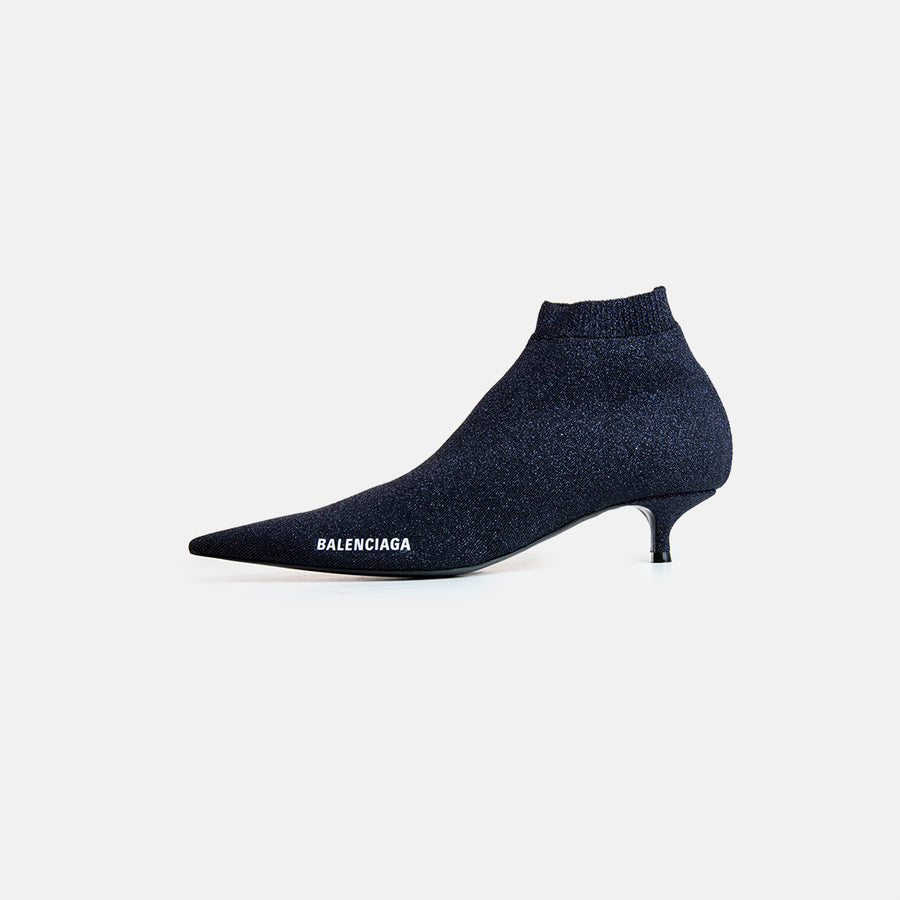 GLITTER KNIFE KNIT BOOTIE