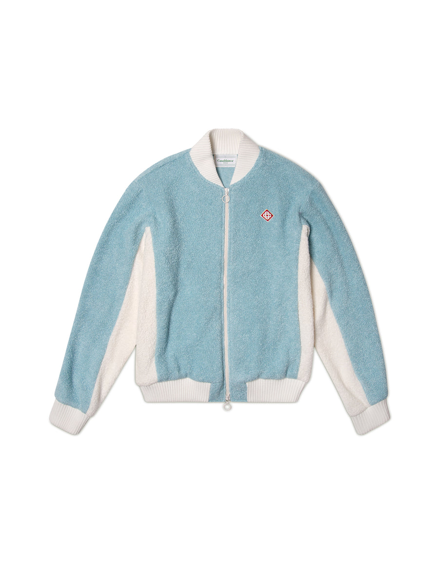PANELED TERRY TRACK JACKET