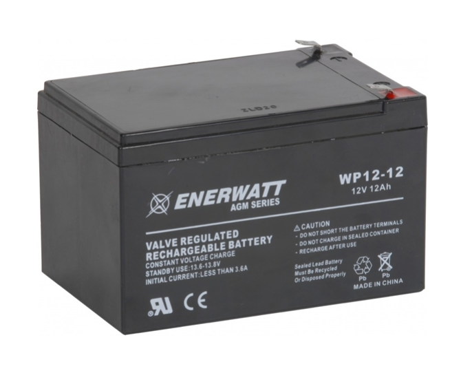 Enerwatt WP12-12 BATTERY AGM 12V 12A SEALED 10-121-10158