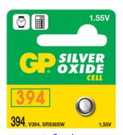 394 GP WATCH BATTERY BUTTON CELL - 5 Pack