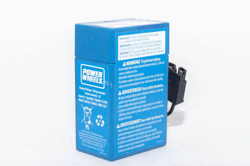 Fisher Price Power Wheels Blue 6v Battery 00801-1457 - BRS Toy Battery