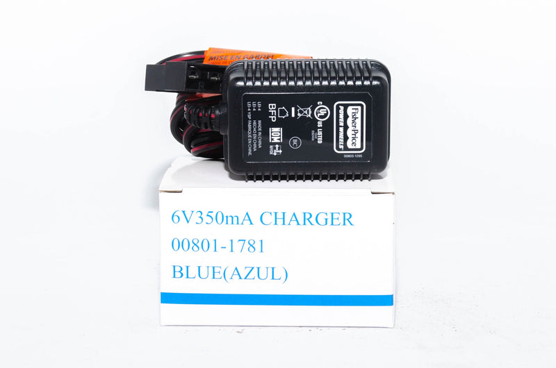Fisher Price Power Wheels Blue 6v Battery Charger 00801-1781 - BRS Toy Battery
