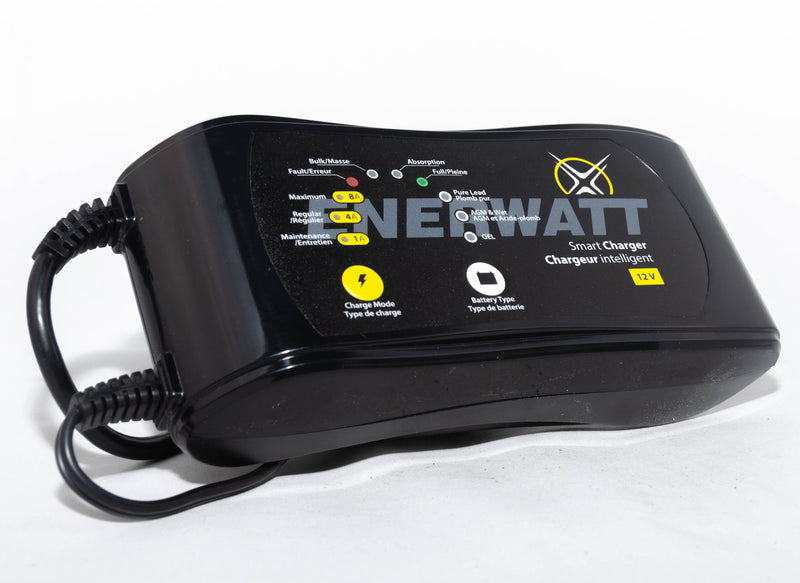 Enerwatt EWC12-148 12 Volt Smart Charger Automatic 1/4/8 AMP - BRS Super Battery