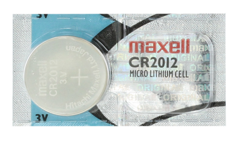 CR2012 MAXELL 3V LITHIUM COIN CELL - 5 Pack