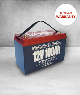 DAKOTA LITHIUM 12V 100AH DEEP CYCLE LIFEPO4 BATTERY & CHARGER