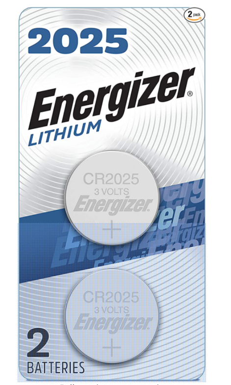 CR2025 ENERGIZER 3V LITHIUM COIN CELL - 6 Pack