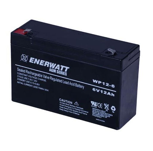 Enerwatt WP12-6 BATTERY AGM 6V 12A SEALED 10-121-10161