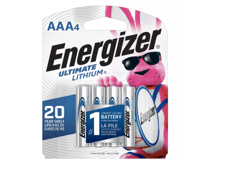 Energizer Energizer Ultimate Lithium AAA Batteries, 4 Pack - L92BP4