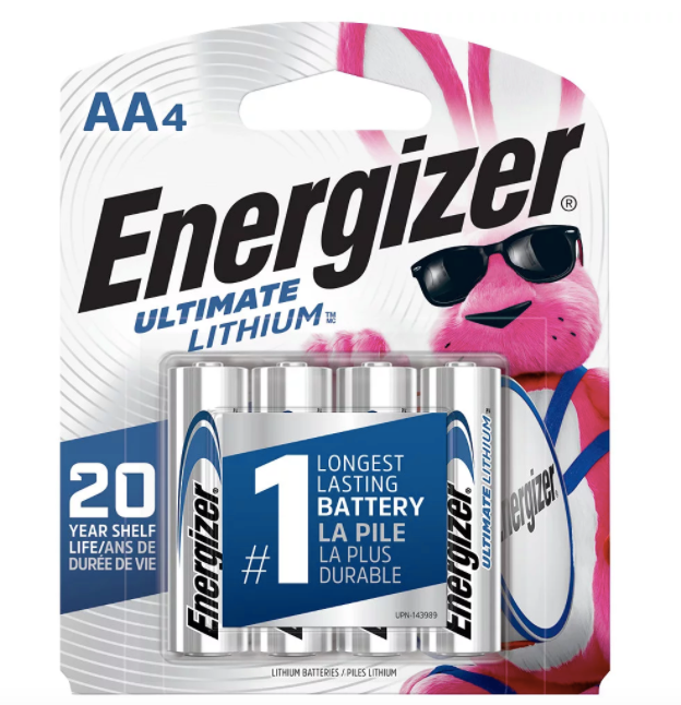 Energizer Energizer Ultimate Lithium AA Batteries, 4 Pack - L91BP4