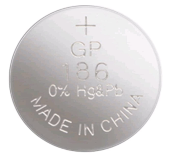 186 / LR43 GP WATCH BATTERY BUTTON CELL  - 5 Pack