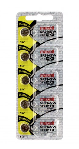 373 / SR916SW MAXELL Watch Battery Button Cell - 5 Pack