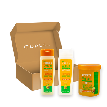 Set Cantu Avocado Șampon + Balsam + Gel de styling