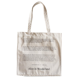 Alice In Wonderland - Canvas Tote Bag - GreenSilly
