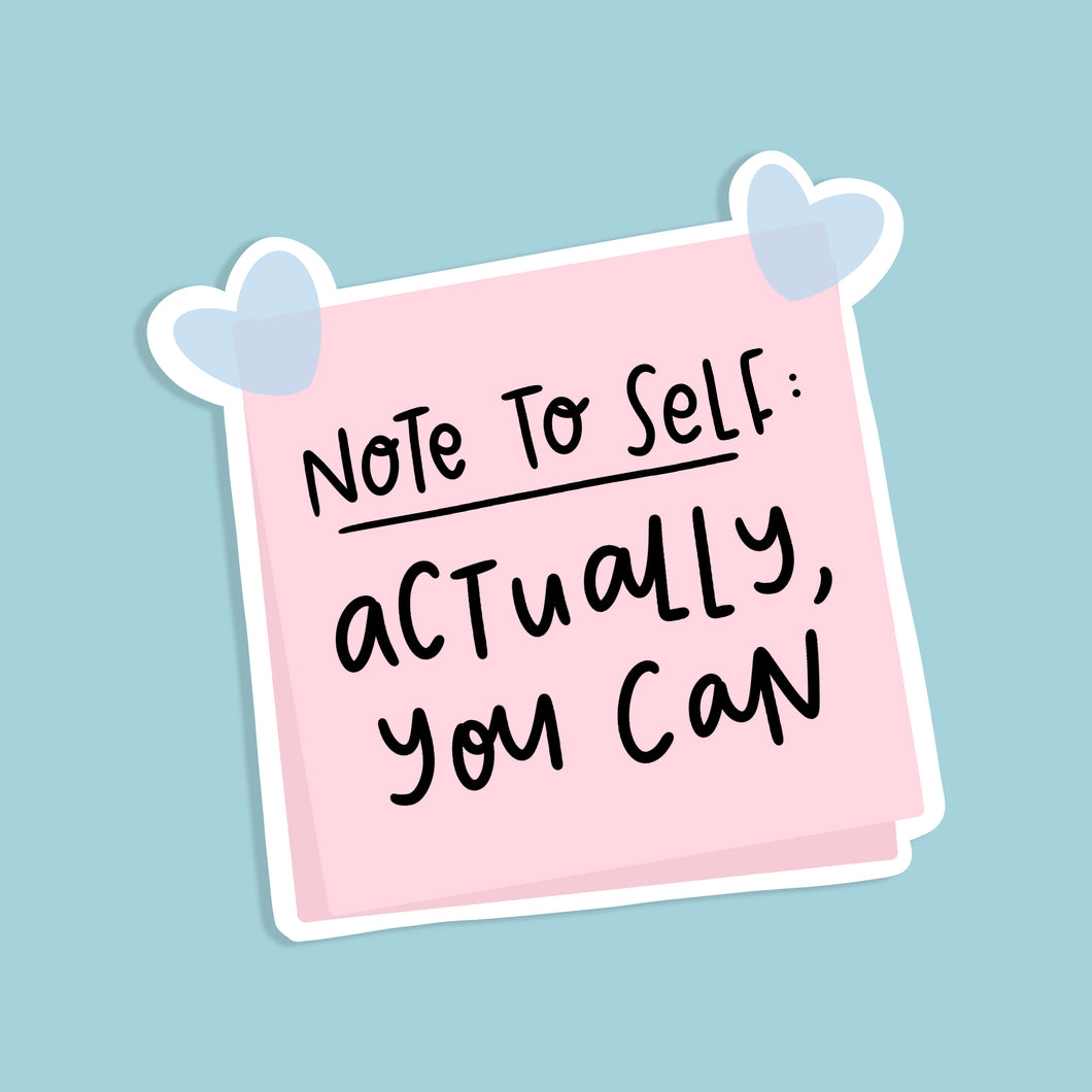 Note to Self Sticker