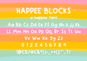 Happee Blocks Font