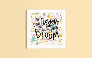 Bloom Square Print