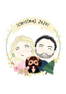 Custom Christmas Portrait