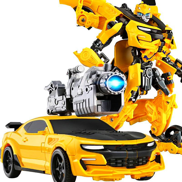 Voiture transformers robot jaune