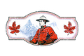 RCMP Crest on Maple Leaf Key Ring RCMP-GRC | The Mounted Police Post